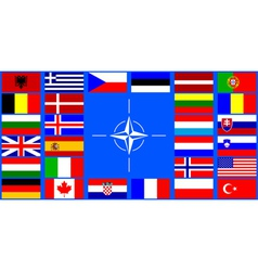 Flags of the nato countries vector