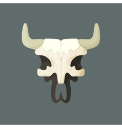 Bull skull from wild west vector