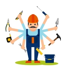 Concept of handyman worker vector