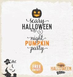 Halloween party design elements and badges vector