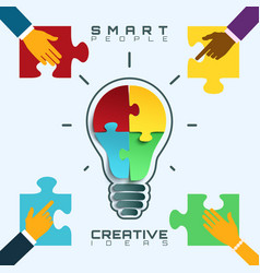 Smart people bright ideas conceptual business vector