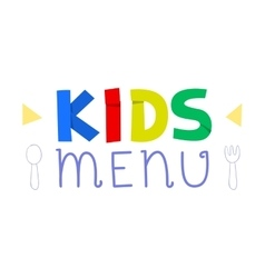 Kids menu logo design template vector
