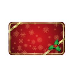 christmas gold banner vector image