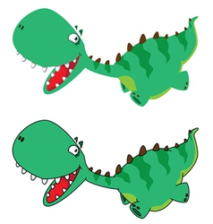 Little running dino vector