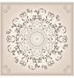 Mandala ornament circular pattern Baroque style vector image