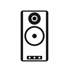Speaker icon in simple style vector