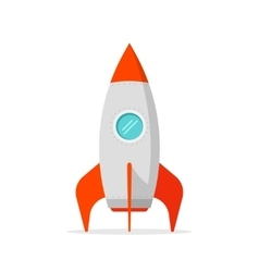 Rocket ship isolated on white background vector