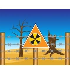 Zone to radioactive danger vector image