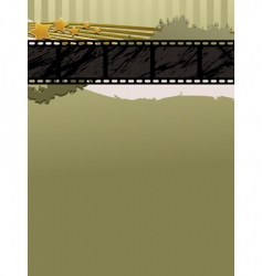 Film strip banner vector