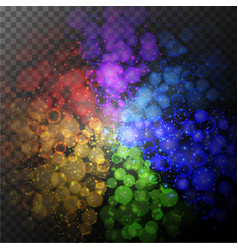 background design with shiny rings of lights vector image vector image