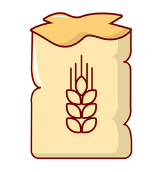 Bag of wheat icon cartoon style vector