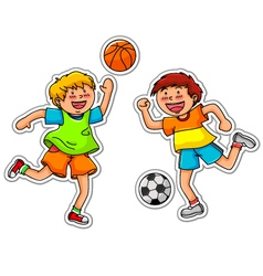 Ball games vector
