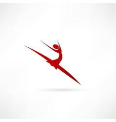 Ballet dancer icon vector image
