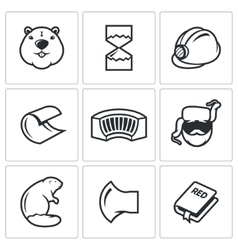 Beaver icon isolated vector image vector image