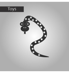 Black and white style toy snake vector