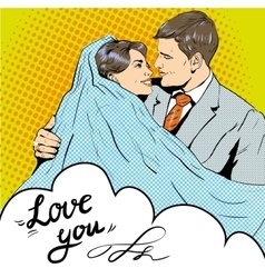 Bride and groom kissing each other vector