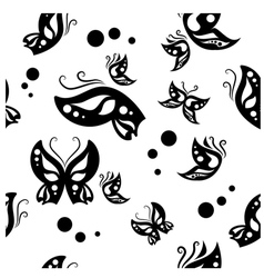 Butterfly black background vector