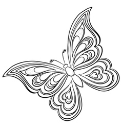 butterfly contours vector image