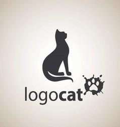 cat logo 3 vector image vector image