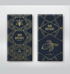 chocolate or cocoa packaging vector image