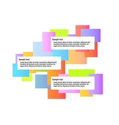 color graphic with three boxes vector image