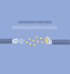 crowdfunding concept business vector image vector image