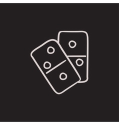 Domino sketch icon vector image