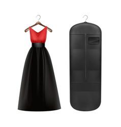 Dress on hanger vector