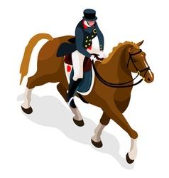 Equestrian dressage 2016 sports 3d vector
