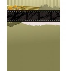 film strip banner vector image vector image