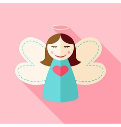 Girl cute angel vector image vector image