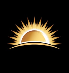 Gold sun vector image