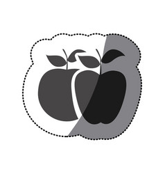 grayscale differents apples icon vector image