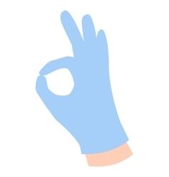 Hands symbol ok vector image vector image