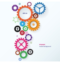 Modern abstract colorful industrial gear vector image
