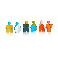 Monday Colorful Title - Paper Cut People and vector image vector image