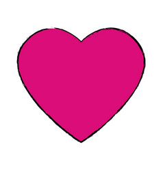 Pink heart love romantic celebration symbol vector