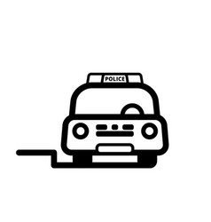 Police car front view vector