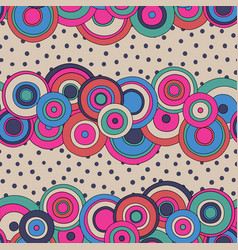 Psychedelic circles seamless pattern vector