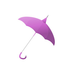 purple umbrella for protection from rain isolated vector image