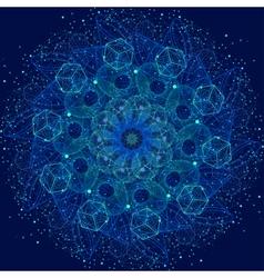 Sacred geometry mandala vector