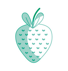Silhouette delicious strawberry fruit with vector