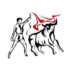 Spanish bullfighter vector