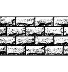 Texture white decorative tiles in form of brick vector