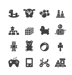 Toy icon set vector