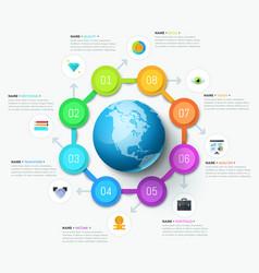 Unique infographic design template vector