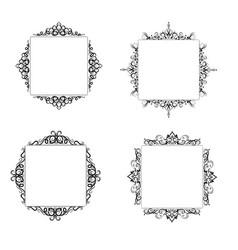 Vintage baroque frame vector
