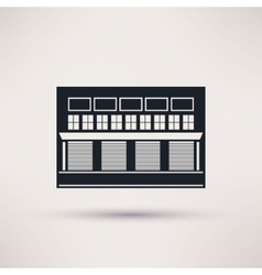 Warehouse building is an icon flat vector image