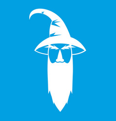 Wizard icon white vector