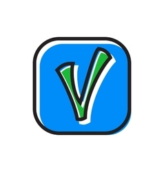 Checkmark in square icon flat style vector